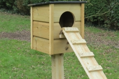 Wild Duck Nesting Box on Post