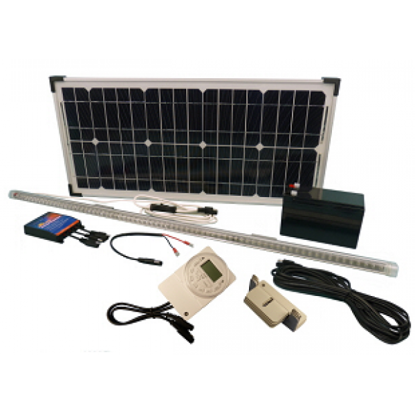 Solar 24W Hen House 12V LED Lighting Kit