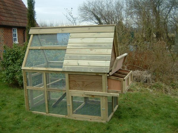 chicken house enclosed run side view