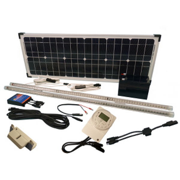 Solar 32W Hen House 12V LED Lighting Kit